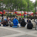 Meditation flash mob with Wake up London