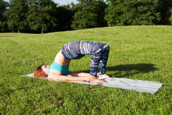 Yoga asana the bridge
