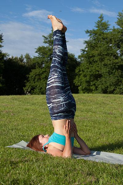 Yoga asana shoulderstand
