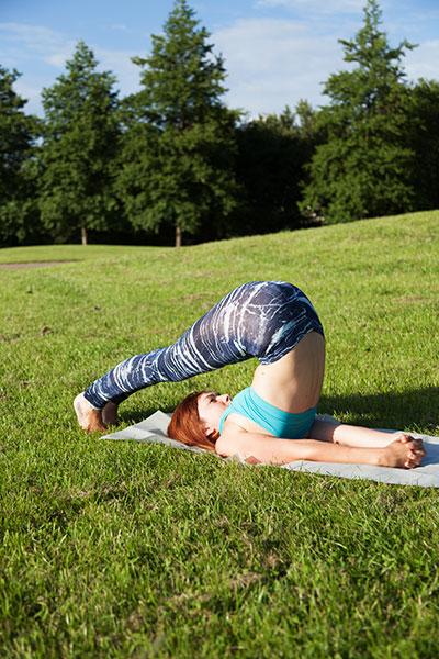 Yoga asana the plough
