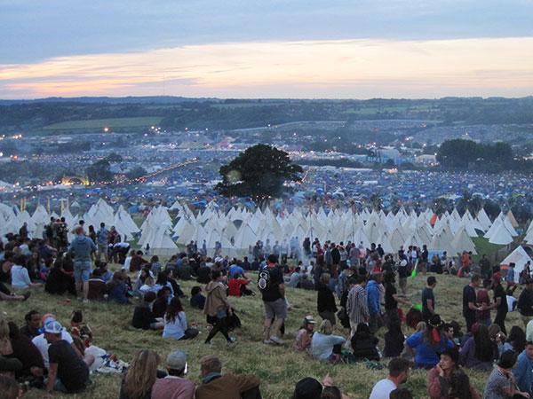 Glastonbury Festival view