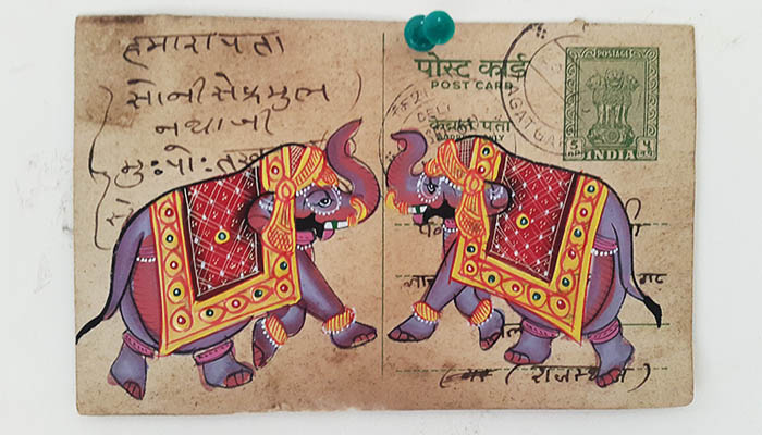 elephant-postcard-art-india