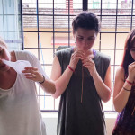 Trying out nasal cleansing kriyas on my yoga TTC in India