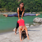 11 yoga asana beach photos taken in Rishikesh India