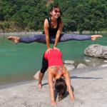 11 yoga asana beach photos taken in Rishikesh India